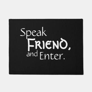 """""""友人""""のドアマット話して下さい ドアマット"""