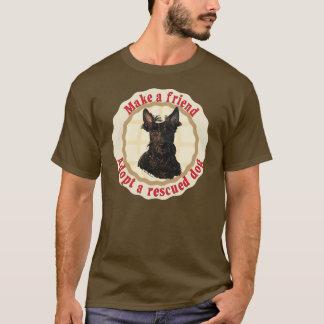 友人-スコットランドテリア--を作って下さい Tシャツ