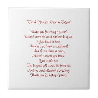 友人-タイル/Trivet --があることをありがとう タイル