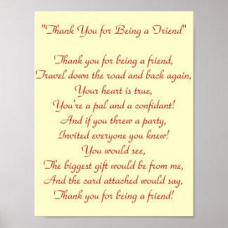 友人-プリント--があることをありがとう ポスター