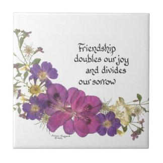 友情および花 タイル