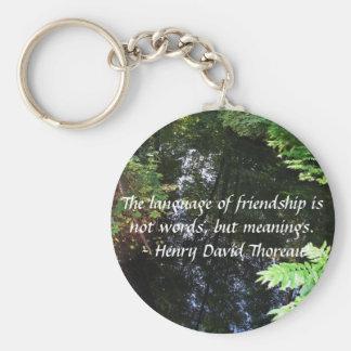 友情についてのヘンリー・デイヴィッド・ソローの引用語句 キーホルダー