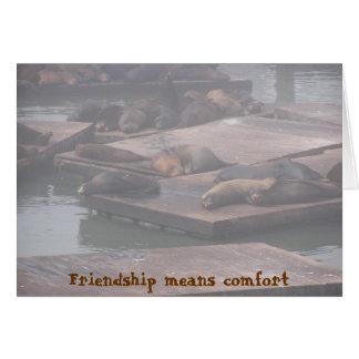 友情の平均の心地よい カード