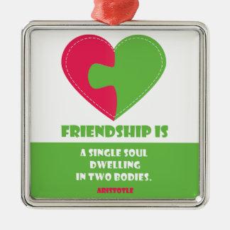 友情の精神及び設計されている体の引用文 メタルオーナメント