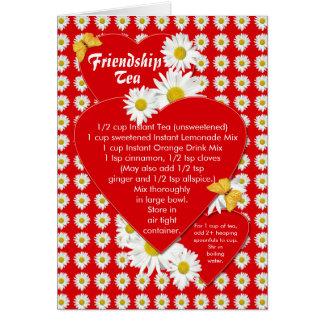 友情の茶レシピのメッセージカード カード