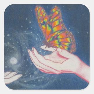 友情の蝶 スクエアシール