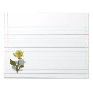 友情の黄色バラ ノートパッド