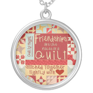 友情はキルトの銀製のネックレスのようです シルバープレートネックレス