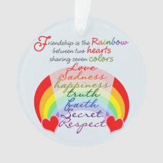 友情はデザインを言う虹BFFです オーナメント