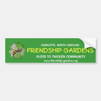 友情はバンパーステッカー庭いじりをします バンパーステッカー