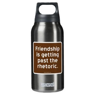 友情は修辞を通り越しています 断熱ウォーターボトル