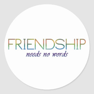 友情は単語を必要としません ラウンドシール