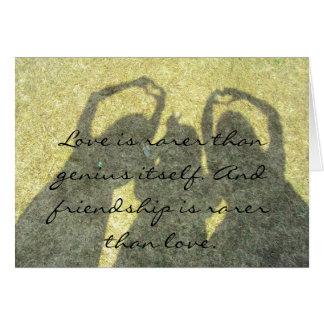 友情は愛カードよりまれです カード