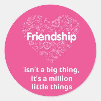 友情は百万の小さい事です。 ステッカー
