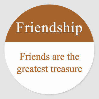 友情は秘蔵されるべきです ラウンドシール