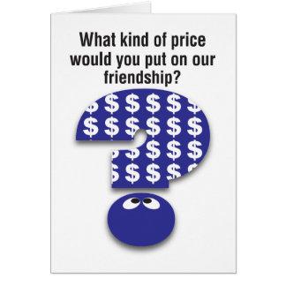 友情カードの価格 グリーティングカード