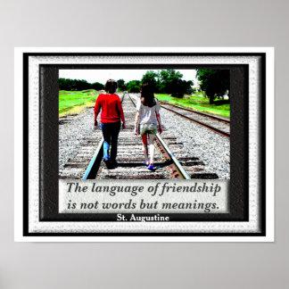 友情-ポスターの言語 ポスター