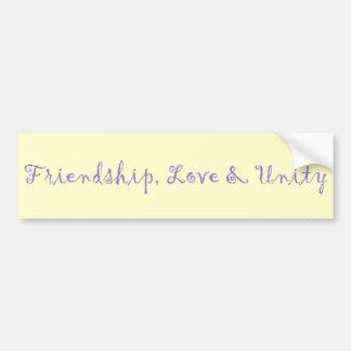 友情、愛及び単一性 バンパーステッカー