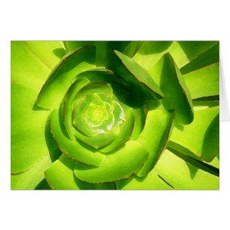 友Vangsgardによる緑の水気が多い正方形 カード