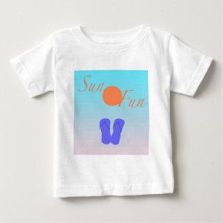 双安定回路の日曜日のおもしろい ベビーTシャツ
