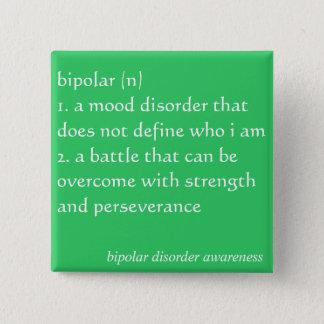 双極性障害の認識度ボタン 5.1CM 正方形バッジ