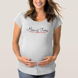双生児のお母さん マタニティTシャツ