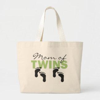 双生児のお母さん ラージトートバッグ