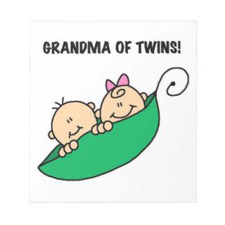 双生児のギフトの祖母 ノートパッド