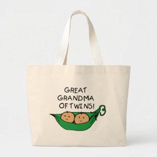 双生児のポッドの曾祖母 ラージトートバッグ