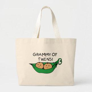 双生児のポッドのGrammy ラージトートバッグ