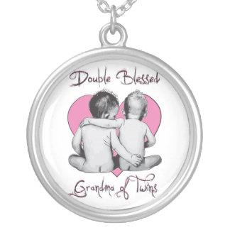 双生児の倍によって賛美されるネックレスの祖母 シルバープレートネックレス