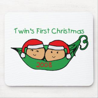 双生児の初めてのクリスマス-ポッド2008年 マウスパッド