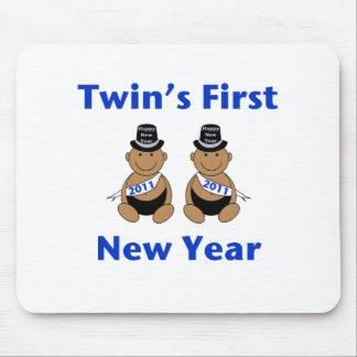 双生児の最初新年 マウスパッド
