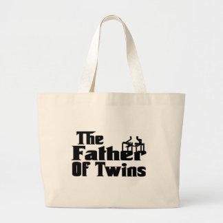 双生児の父 ラージトートバッグ