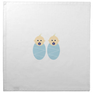 双生児の男の赤ちゃんのシャワーの誕生祝いの運命 ナプキンクロス