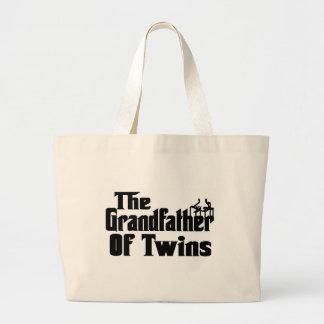 双生児の祖父 ラージトートバッグ