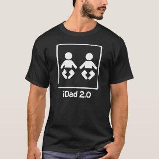 双生児のiDad/iDaddy 2.0新しいパパ Tシャツ
