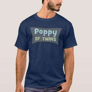 双生児のTシャツのケシ Tシャツ
