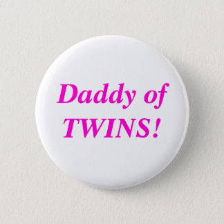 双生児ボタンのお父さん 5.7CM 丸型バッジ