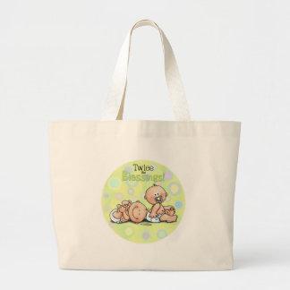 双生児-二度恵み ラージトートバッグ