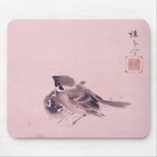 双雀、すずめの栖鳳の組、Seihōの日本のな芸術 マウスパッド
