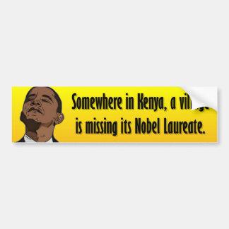 反オバマ-どこかにケニヤで バンパーステッカー
