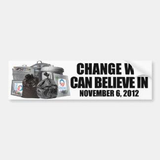 反オバマ-私達を信じることができます変えて下さい バンパーステッカー