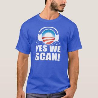反オバマNSAの詮策のスキャンダル Tシャツ