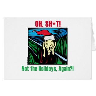 反クリスマスのプレゼント グリーティングカード