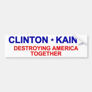 反クリントンKaine バンパーステッカー