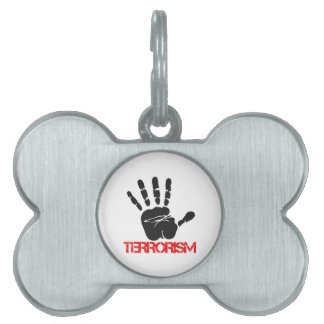 反テロリズムのデザイン ペットネームタグ