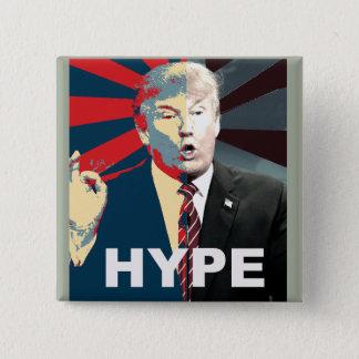 反ドナルド・トランプのキャンペーン 誇大宣伝2016ボタン 5.1CM 正方形バッジ