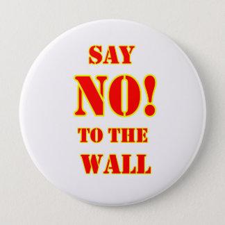 """反ドナルド・トランプは""""断ります! 壁ボタンに 10.2CM 丸型バッジ"""