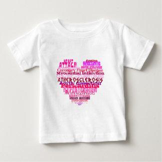 反バレンタインデーのハート ベビーTシャツ